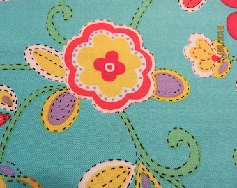 """Floral with Bright Colors    1 Yard Available  44"""" Wide   Free Shipping"""