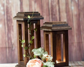 Wedding Lantern Set, Fall wedding, Autumn Wedding, Wedding Decor, Wedding Table Centerpiece, rustic wedding, DIY wedding, Candle Lantern