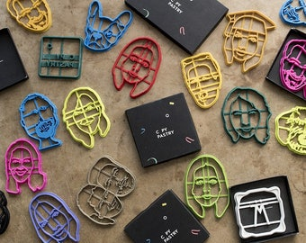 PORTRAIT personalized cookie cutter // custom fondant cutter // PORTRAIT // 3D printed custom cookie cutter for personalized cookies