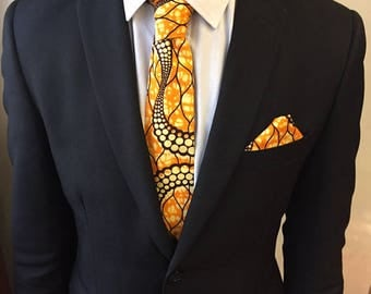 WAX Orange tie