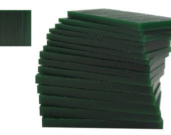 15 Piece Assortment of 1/2 Lb Dark Green Wax Carving Block Jewelry Pattern Making Machining Hard Melting Modeling Wax Slices - WAX-332.25