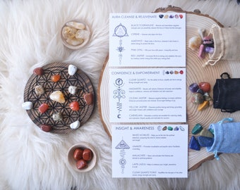 Crystal Intention Set, Crystal Grids, Healing Crystals