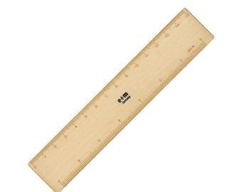 e+m Pico Maple Wood 15cm Ruler and Bookmark