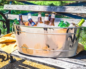 Personalized Stainless Steel Leak-Proof Party Beverage Tub for Wedding, Housewarming, Birthday, Anniversary Gifts