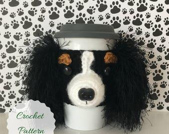 Cavalier Crochet Pattern, Crochet Dog Pattern, Dog Crochet Pattern, Crochet Pattern Dog, Crocheting Patterns, PDF Pattern, Mug Cozy Pattern