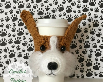 Crochet Corgi Pattern, Corgi Crochet Pattern, Mug Cozy Pattern, Dog Crochet Pattern, Crochet Pattern Dog, Crochet Dog Pattern, Amigurumi Dog