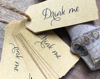 """Label """"Drink me"""" for gifts, 10 pieces"""