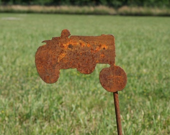 Tractor Garden Stake, Farm Tractor Sign, garden marker, outdoor tractor sign, Tractor Floral Pick, Tractor Garden Sign, tractor yard sign