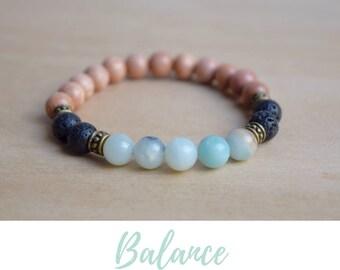 Amazonite Bracelet / treat yo self, calming bracelet, mental health, everyday bracelet, stress relief, cheer up gift, something blue ideas