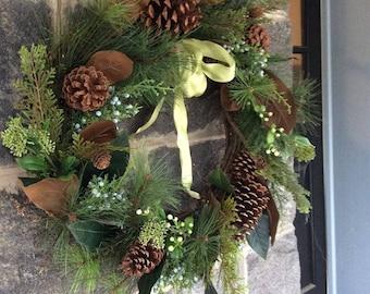 Juniper and Greens  Wreath