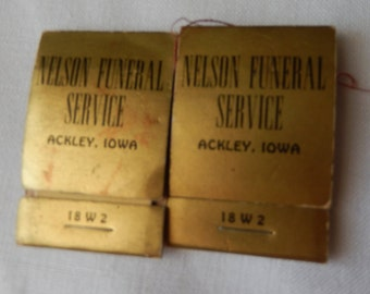 Nelson Funeral Home, Ackley, Iowa Promotional Items