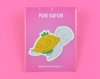 Pineapple Turtle Sticker XL - vinyl high quality