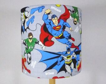 Marvel Lampshade | Batman | Superman | Green Lantern | Handmade in Australia - Comic Lamp Shade | 20cms x 20 cms