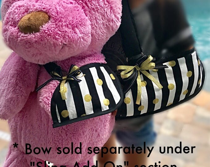 Striped and Dotted Arm Sling - child arm sling - adult arm sling - fashionable arm sling- broken arm sling- custom arm sling - get well gift