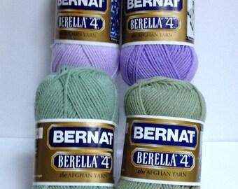 Bernat Berella The Afghan Yarn, Bernat Yarn, Worsted #4 Acrylic Yarn, Quick Knitting Yarn Perfect for Knitting One Skein Wonders or Crochet