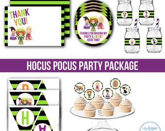 Hocus Pocus Birthday Party Package, Hocus Pocus Invitation, Hocus Pocus Birthday, Hocus Pocus Party, Hocus Pocus Birthday Party