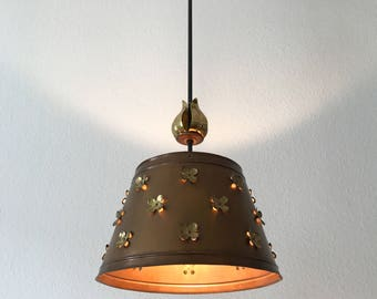 Gorgeous Mid Century Modern COPPER PENDANT LAMP | Hanging Light | Chandelier | 1950s