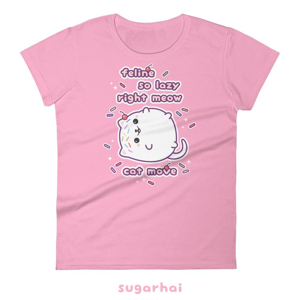 Cute Cat Shirts Kawaii Clothing Cute Kittens Lazy Day