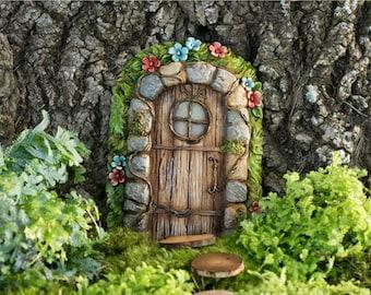 Wood fairy door etsy for Wooden fairy doors to decorate