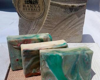 Island Breeze - Passionfruit - jasmine - citrus - floral soap - 4 ounce bar - tropical soap