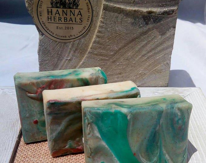 Featured listing image: Island Breeze - Passionfruit - jasmine - citrus - floral soap - 4 ounce bar - tropical soap