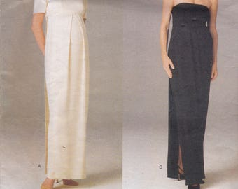 Vogue 1689 Designer Maternity Pattern by Lauren Sara - Womens Maternity Evening Gown in 2 Variations SIze 8,10,12 UNCUT