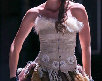 corset Marie-Jeanne Samantha Swan feathers
