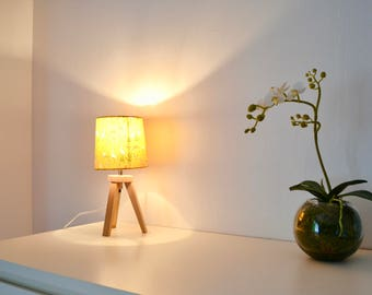 Compass And Japanese Paper Table Lamp
