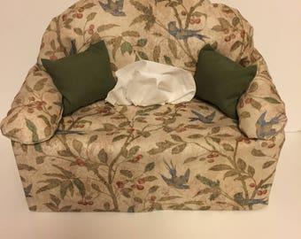 sofa tissue box cover- birds