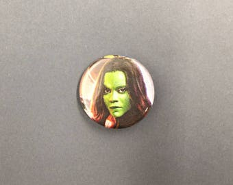 Gamora / Guardians of the Galaxy Upycled Pinback Button