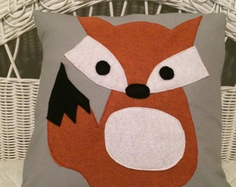 Little fox pillow cover