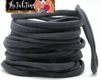 Gray Nylon Headband | One Size Fits All Headband | THIN Soft Nylon Headband for baby and adults| Premium Infant & Baby Headbands | BULK