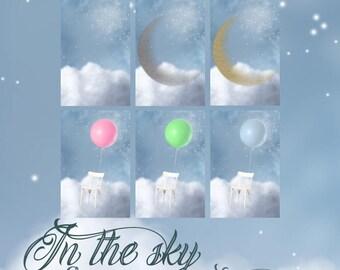 In The Sky - Six Digital Backgrounds in JPG Format