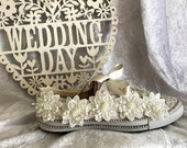 Wedding Trainers  Wedding Converse  Wedding Sneakers  Wedding Accessories  Bridal Accessories  Lace Appliques  Wedding Footwear