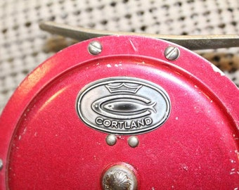 Vintage Red Cortland Fly Reel Collectible Fishing Tackle