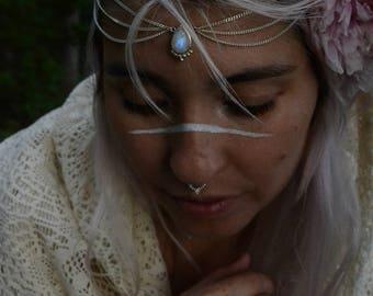 Moonstone Silver Head chain