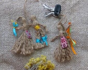 Keychain handmade, original keychains, dolls keychains, womens accessories, womens keychain, gift for girl, Handmade key chain
