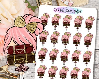 Cute Dolls- Travel/Pack Suitcase Stickers -062