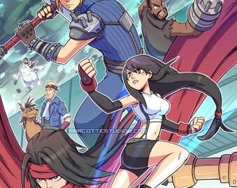 Final Fantasy VII 11x17 Art Print