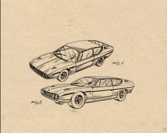 Lamborghini Automobile Patent #217905 dated November 25, 1968.