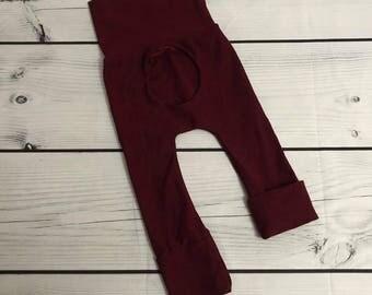 Porthole pants 0M - 12M 6M - 36M Red wine
