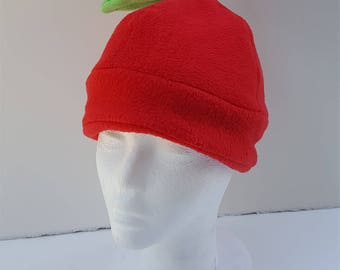 Fleece Apple Hat