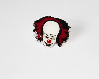 Pennywise PIN - Horror icon, Halloween, horror movies,  pin collector , comic con, horror con, horror mask, IT, Stephen King, clown scary