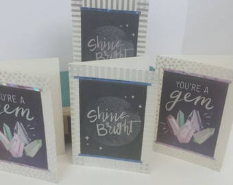 Bright gem blank any occasion greeting cards