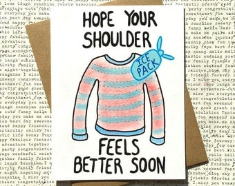 Shoulder Surgery Card, Shoulder Get Well Card, Shoulder Surgery, Funny Get Well Card, Physical Therapy Card, Cute Get Well Card