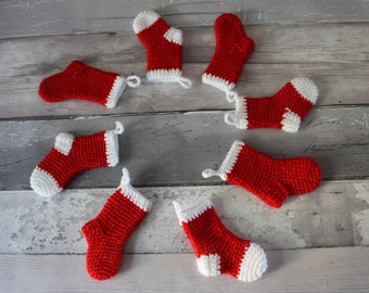CROCHET CHRISTMAS PATTERN crochet Christmas decoration stocking pattern stocking crochet pattern Christmas ornament crochet patterns
