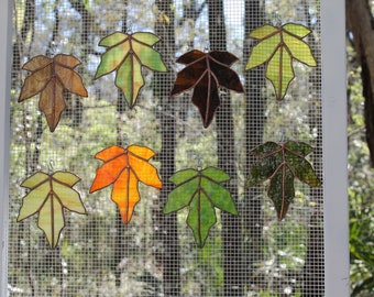 Leaves - Stained Glass Sun Catchers