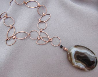 Agate Pendant Necklace/Gift for Her