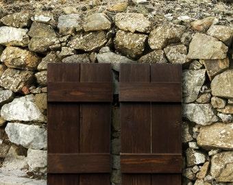 Wood shutters, window shutters, custom shutters, outdoor shutters, house shutters, southwestern decor, western home decor, rustic shutters