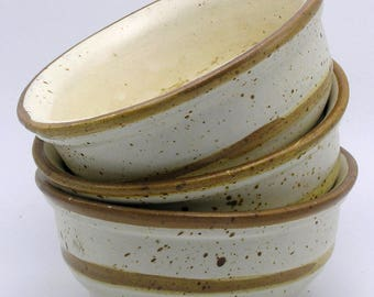3x Laurentian Pottery Quebec Mid Century Studio Pottery Bowls/Dishes